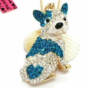 Betsey Johnson French Bull Dog Necklace
